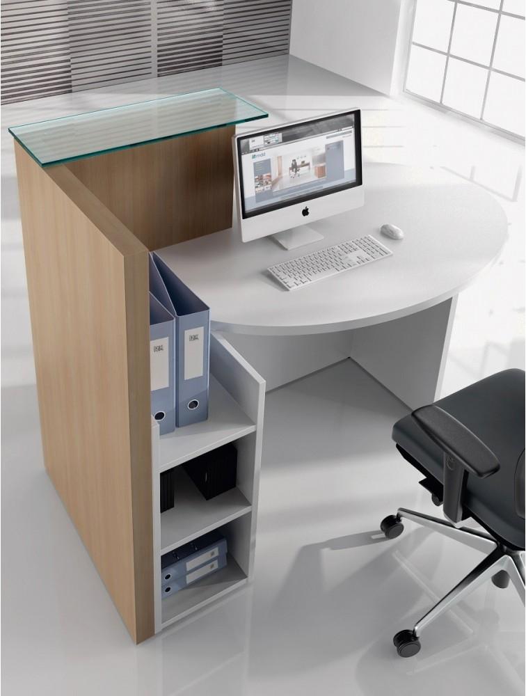 petit bureau d 39 accueil compact novo pas cher delex mobilier. Black Bedroom Furniture Sets. Home Design Ideas