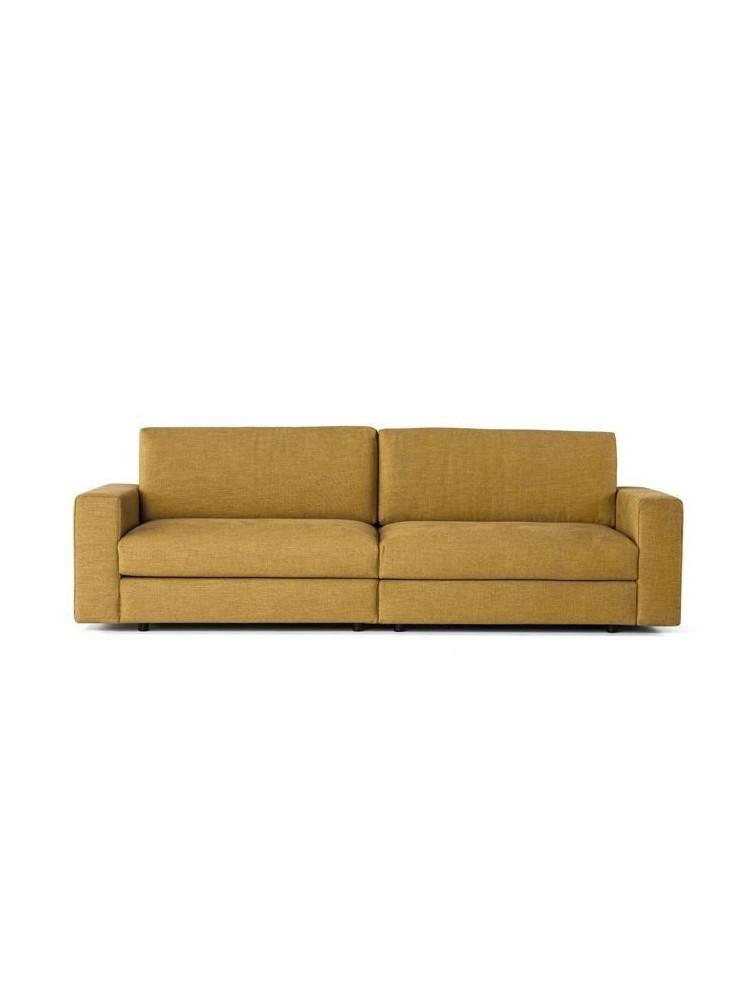 Delex mobilier canap contemporain 2 places classic en tissu Mobilier canape