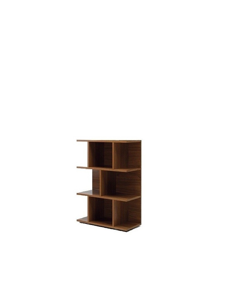delex mobilier biblioth que basse design larus h 126 cm. Black Bedroom Furniture Sets. Home Design Ideas