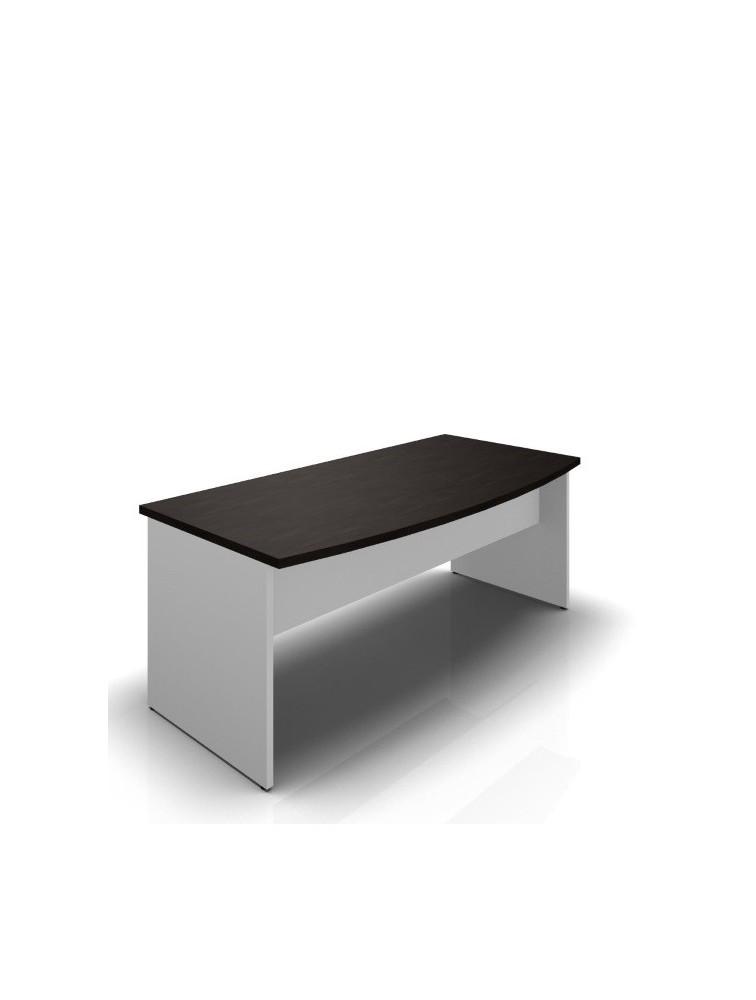 Bureau arrondi convivial L180cm en bois BASIC Delex Mobilier