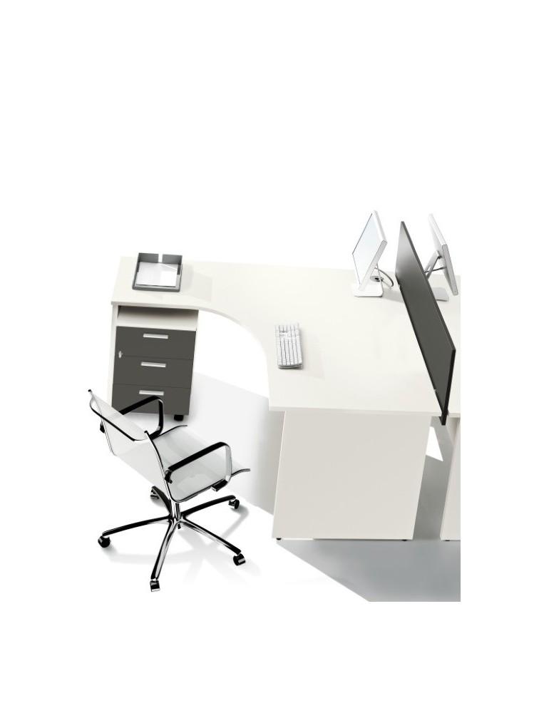bureau compact 90 160x160cm basic pas cher delex mobilier. Black Bedroom Furniture Sets. Home Design Ideas