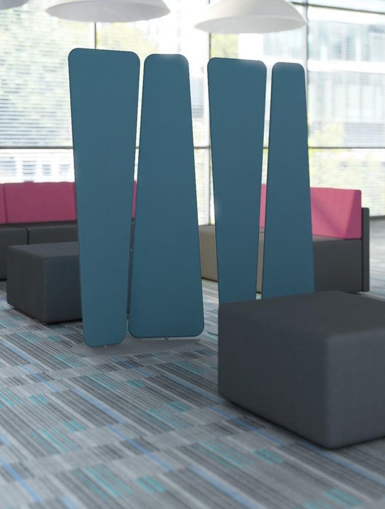Cloison de séparation design en tissu ROTATE | Delex Mobilier