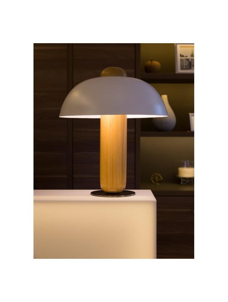 lampe abat jour blanc design clochette marque kos lighting. Black Bedroom Furniture Sets. Home Design Ideas