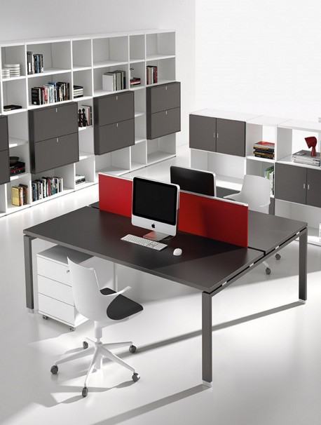 bureau bench 2 personnes atreo avec cran de s paration alea office. Black Bedroom Furniture Sets. Home Design Ideas