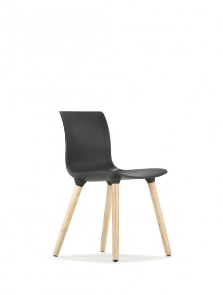 Chaise en polypropylène QUINCY Gris foncé