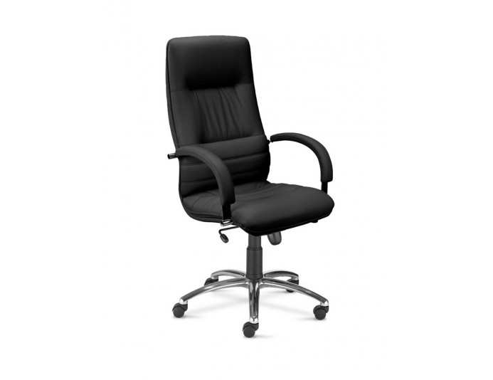 Fauteuil de direction grand confort LINEA STEEL noir