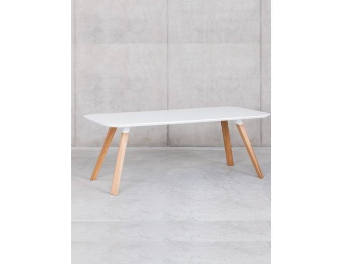 Table de réunion pieds bois massif OBLIQUE