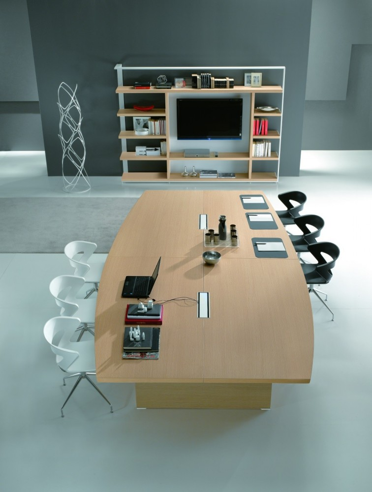 grande table de r union en bois pour 16 personnes odeon delex mobilier. Black Bedroom Furniture Sets. Home Design Ideas