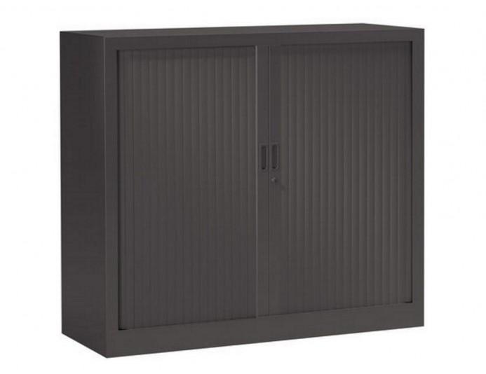 Armoire mi-haute à rideaux PRATIK UNIE H 105 cm Anthracite 7016