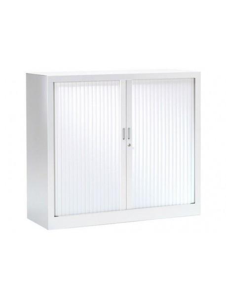 Armoire mi-haute à rideaux PRATIK UNIE H 105 cm Blanc 9010