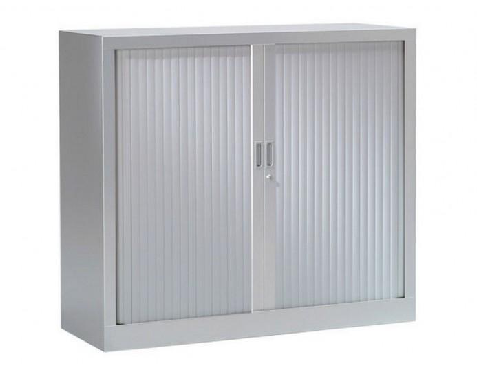 Armoire basse à rideaux PRATIK UNIE H 69.5 cm