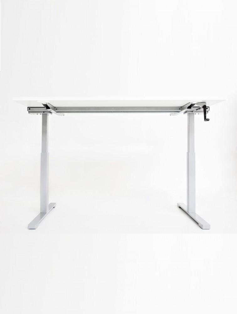bureau r glable en hauteur par manivelle drive pas cher. Black Bedroom Furniture Sets. Home Design Ideas
