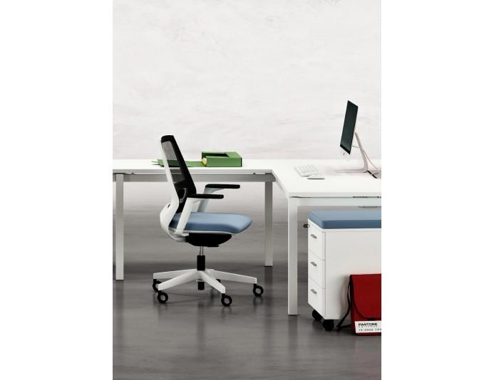 Siège de bureau haut de gamme et design OXYGENE avec accourdoirs 3D