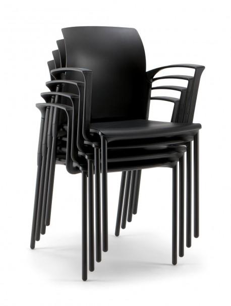 chaise de r union en polypropyl ne avec accoudoirs empilable college. Black Bedroom Furniture Sets. Home Design Ideas