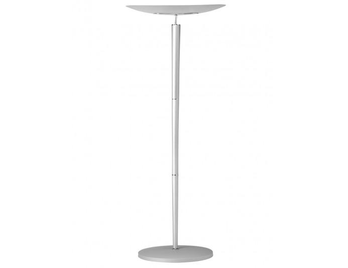 Lampadaire avec ampoule halogéne design argenté CRISTALIA