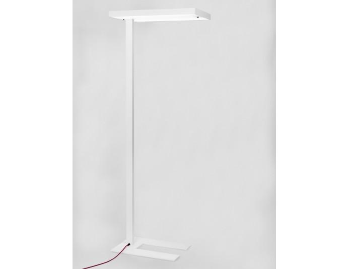 Lampadaire led design blanc AKIO