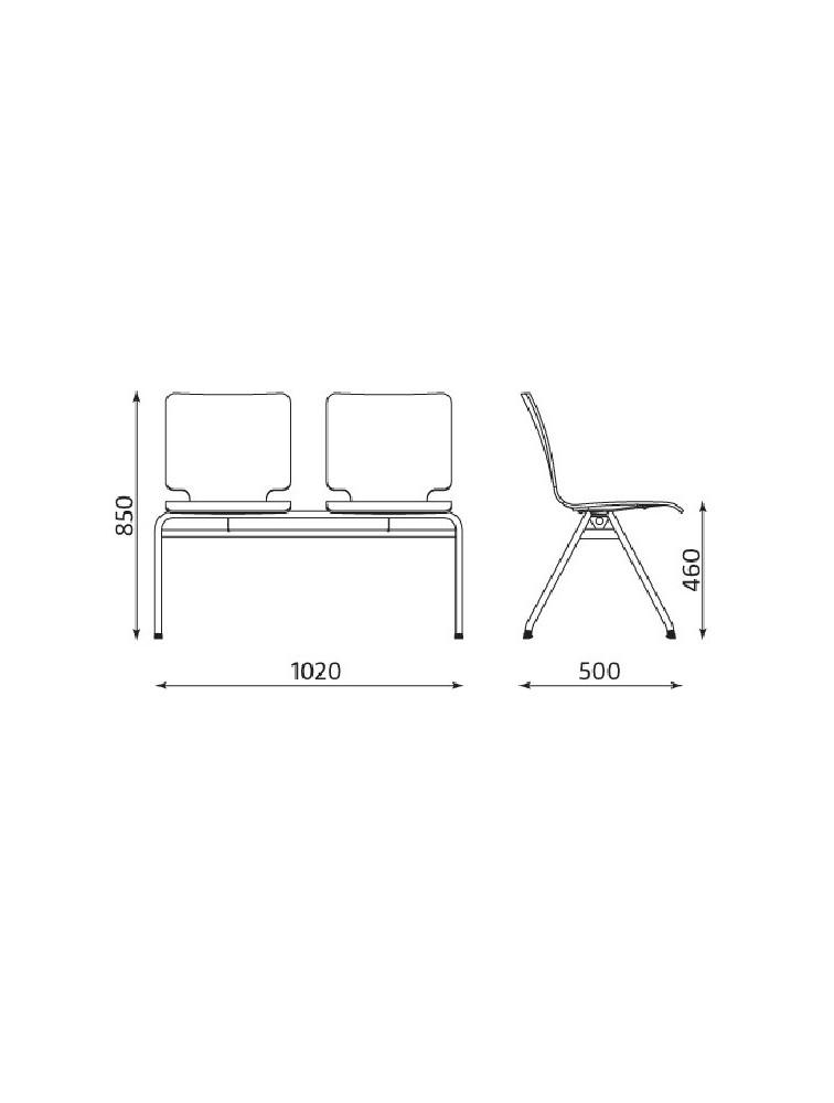 delex mobilier banc d 39 accueil int rieur 2 ou 3 places axo en bois. Black Bedroom Furniture Sets. Home Design Ideas