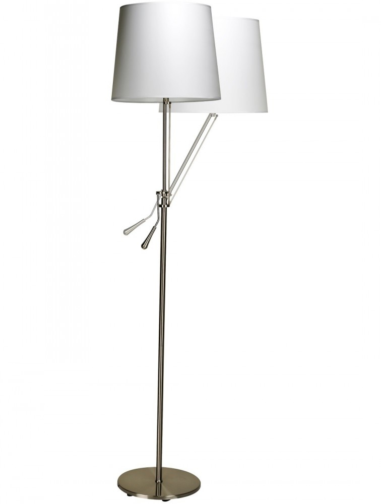 lampadaire led avec abat jour blanc de la gamme inclinea delex mobilier. Black Bedroom Furniture Sets. Home Design Ideas