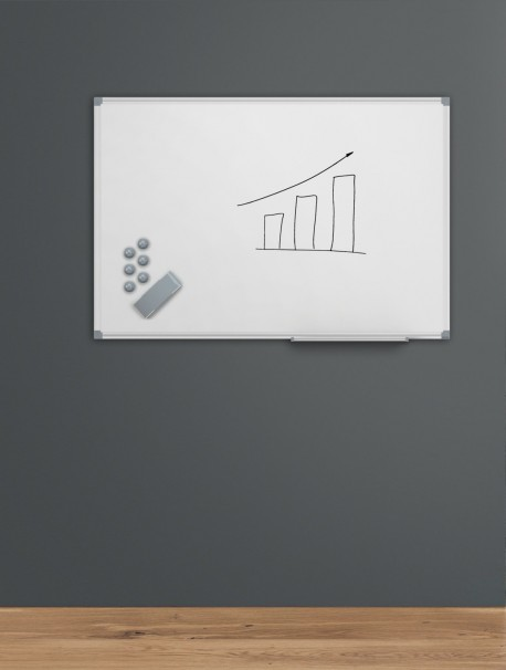 Tableau blanc simple avec surface émaillée MAULstandard