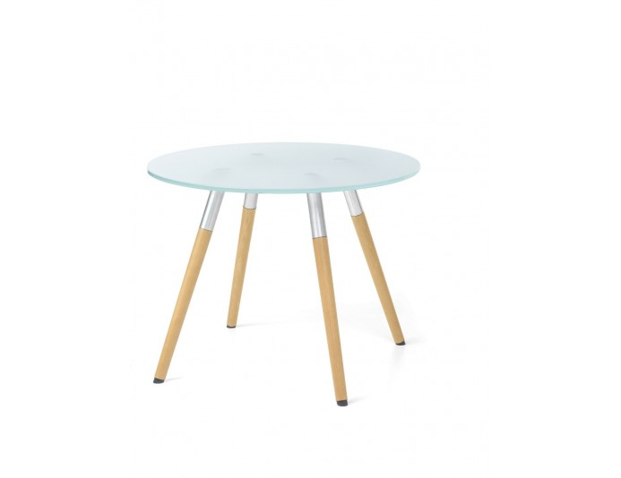 Table basse ronde en verre BIP BOP