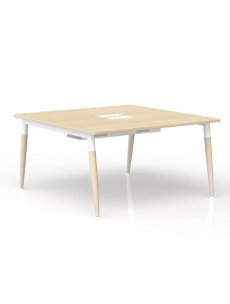 table de reunion carr e en m lamine 140 x 140 native. Black Bedroom Furniture Sets. Home Design Ideas