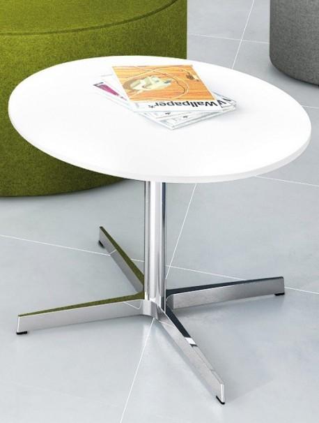 Table de salon ronde Ø 73cm en mélaminé coloris chêne clair STAR