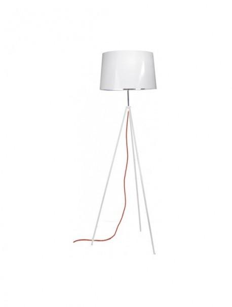 Lampadaire pas cher coloris blanc hauteur 156 cm TROPIC