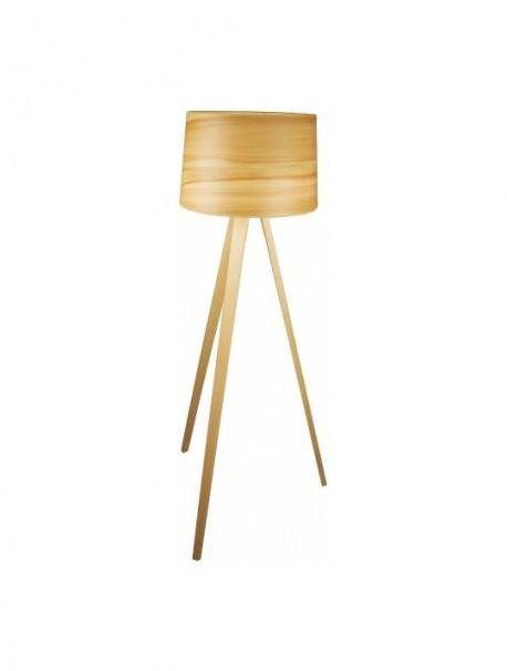Lampadaire en bois hauteur 142cm ampoule fluo-compacte ESSENCE