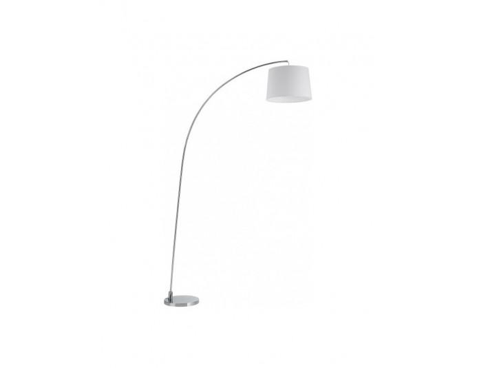 Lampadaire design chromé d'une hauteur de 210cm ARC