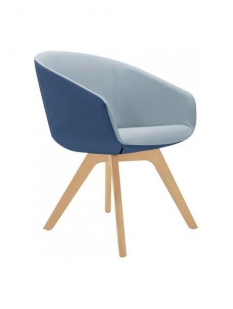chauffeuse duale en tissu avec 4 pieds en bois eol. Black Bedroom Furniture Sets. Home Design Ideas