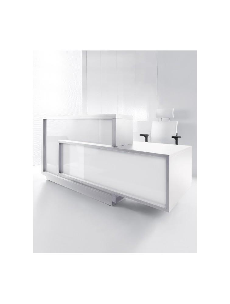 bureau d 39 accueil design laqu brillant foro delex mobilier. Black Bedroom Furniture Sets. Home Design Ideas
