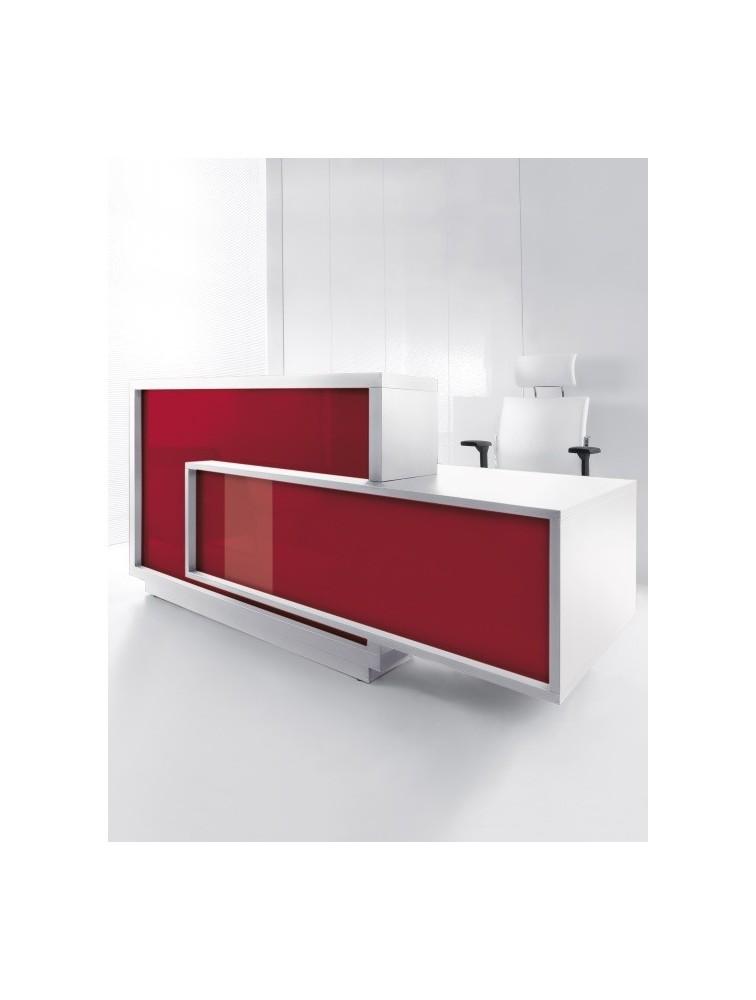 Bureau d 39 accueil design laqu brillant foro delex mobilier for Bureau accueil