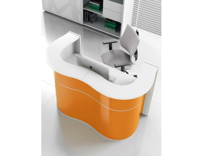Bureau d'accueil design WAVE Orange