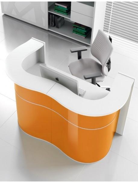 Bureau d'accueil design WAVE Orange