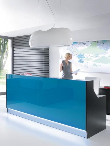 Comptoir d'accueil design avec lumière led LINEA