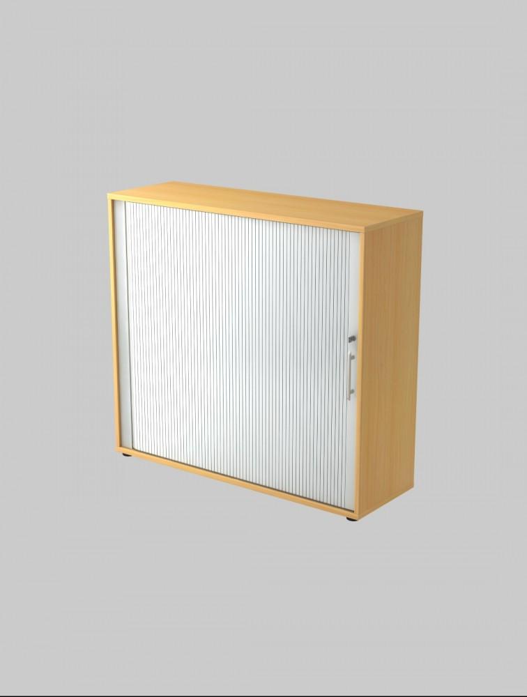 armoire de bureau en bois avec rideau h 110cm cortina. Black Bedroom Furniture Sets. Home Design Ideas