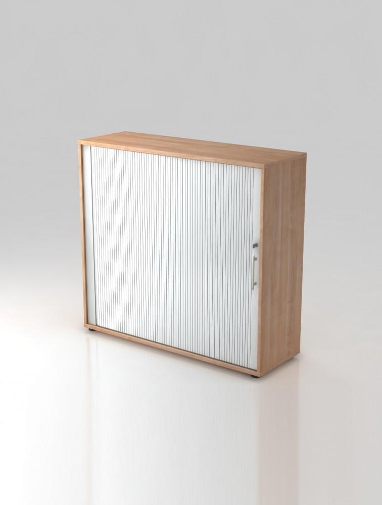 Armoire de bureau 3 hauteurs en bois avec rideau cortina - Armoire de bureau but ...