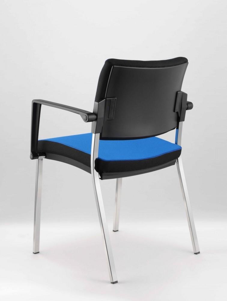 chaise de reunion 4 pieds avec accoudoirs poly delex mobilier. Black Bedroom Furniture Sets. Home Design Ideas