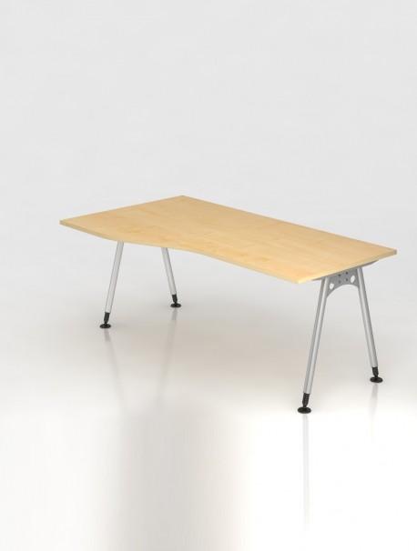 bureau reglable en hauteur avec retour atone delex mobilier. Black Bedroom Furniture Sets. Home Design Ideas