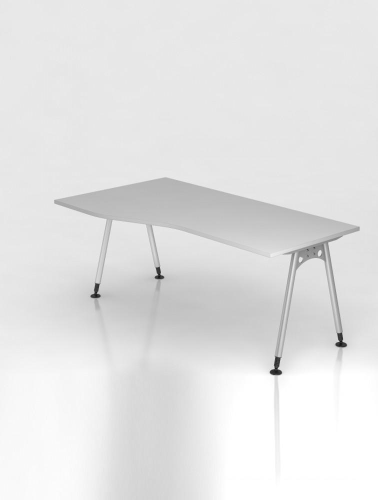 Bureau reglable en hauteur avec retour atone delex mobilier - Bureau reglable en hauteur ergonomique ...