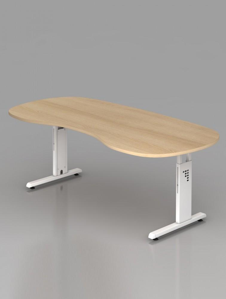 bureau ergonomique r glable en hauteur omega delex mobilier. Black Bedroom Furniture Sets. Home Design Ideas