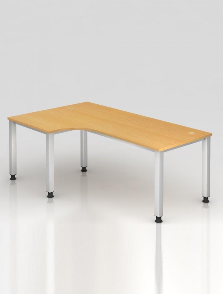 grand bureau avec retour r glable en hauteur mage delex. Black Bedroom Furniture Sets. Home Design Ideas