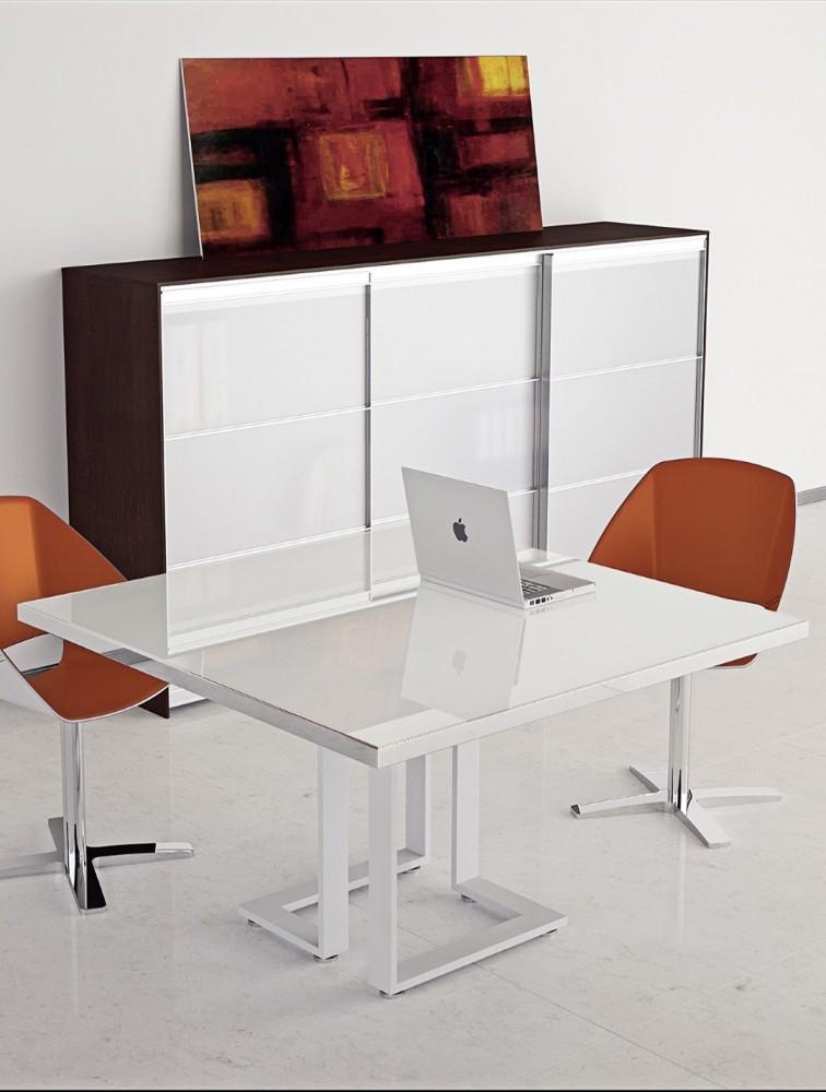 petite table de r union design en verre archimede delex mobilier. Black Bedroom Furniture Sets. Home Design Ideas