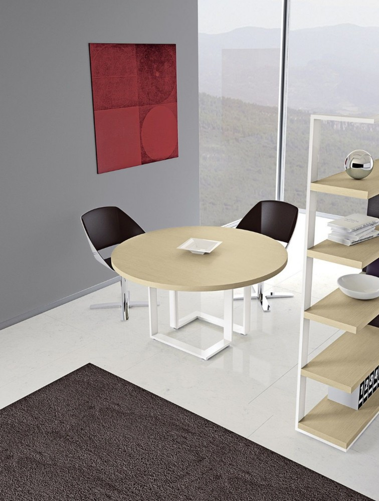 Table de r union ronde pour 4 personnes archimede delex for Table 5 personnes