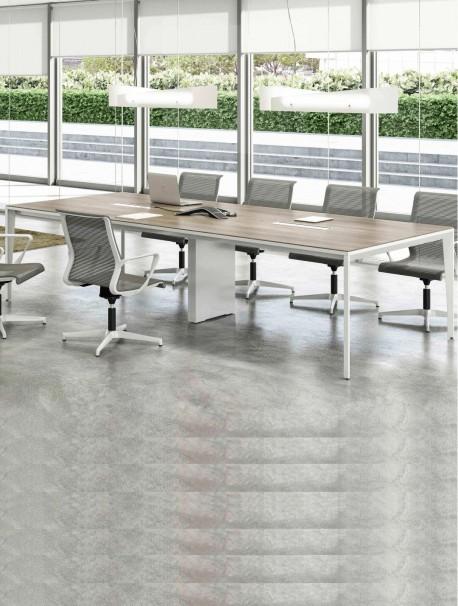 Table de réunion rectangulaire avec passe câble intégré ARCHE