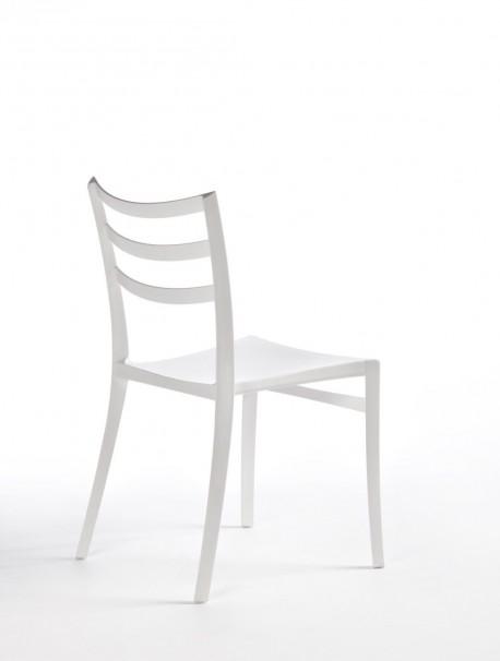 Chaise en plastique pour espace de collectivité SABRINA