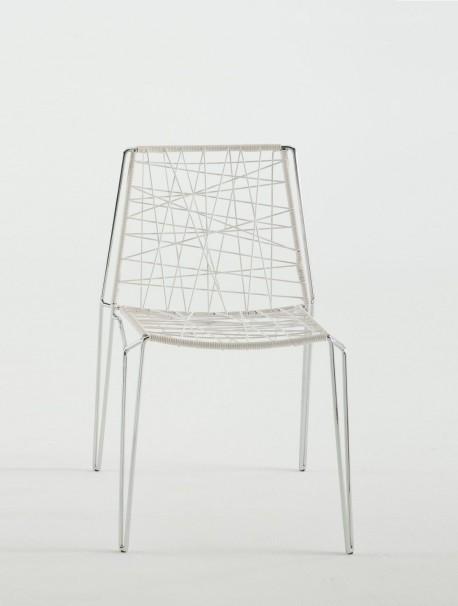 Chaise moderne blanche pour collectivité PENELOPE