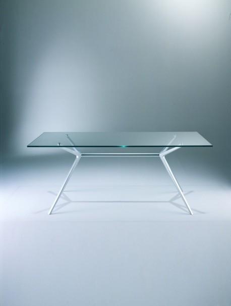 Table de collectivité en verre H.75 cm EX