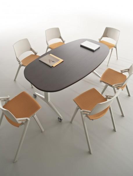 Table de réunion rabattable 6 personnes RAZMOTTE