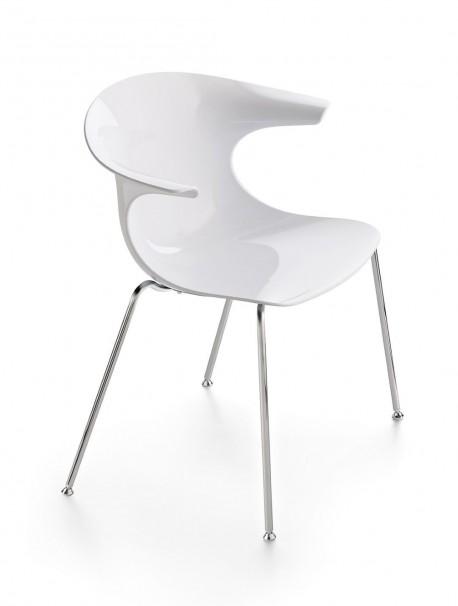 Chaise de réunion coque unie en techno polymère LOOP